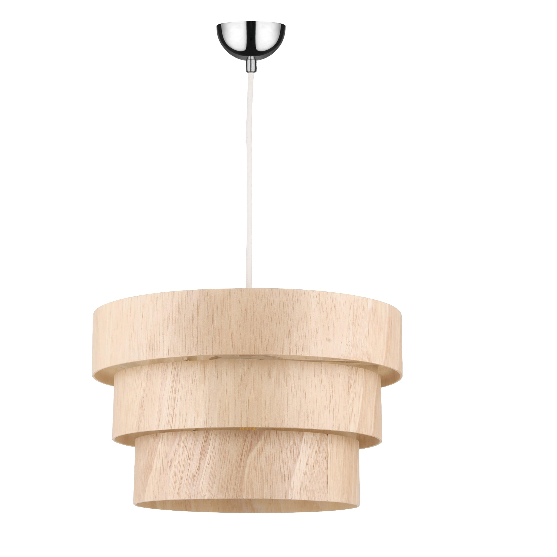 Hanging lamp rustic Kazuki Wood oak E27 60W