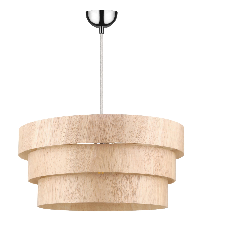 Rural Hanging lamp Kazuki Wood oak E27 60W