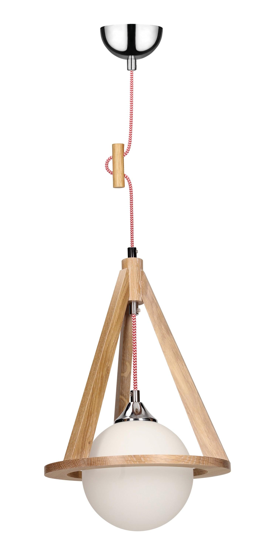 Lampa wisząca dąb / chrom / E27 60W