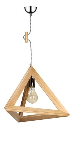 TRIGONON wooden lamp without shade