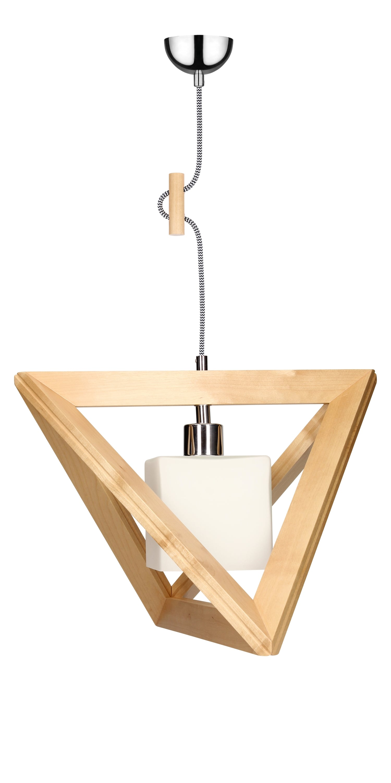 Hanging lamp Trigonon brzoza / chrom / black and white E27 60W