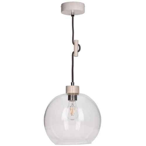 Lampa wisząca szklana Svea dąb bielony/antracyt E27 60W