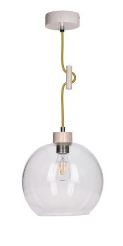 Lampa wisząca Svea dąb bielony/oliwkowy E27 60W