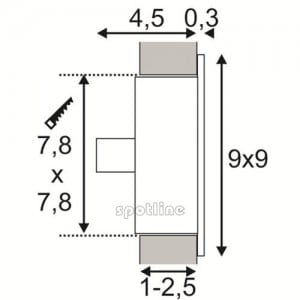 Recessed wall luminaire SLV FLAT FRAME CURVE 112772 small 2