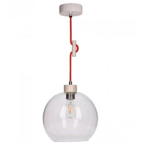 Hanging lamp Svea dąb bielony / czerwony E27 60W