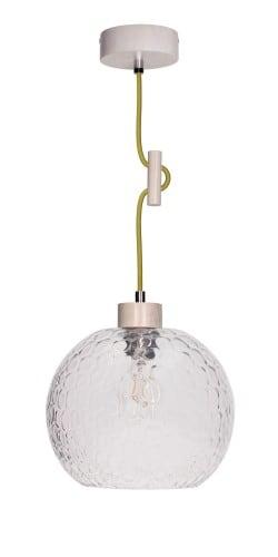 Lampa wisząca Svea Falista dąb bielony/oliwkowy E27 60W