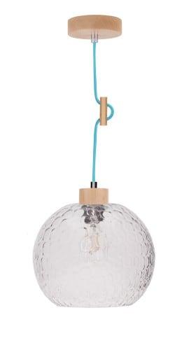 Lampa wisząca Rozpraszająca Svea buk/petrol E27 60W