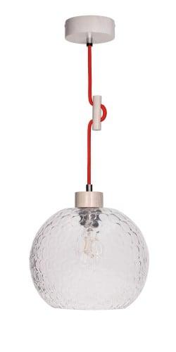 Lampa wisząca Svea dąb bielony/czerwony E27 60W