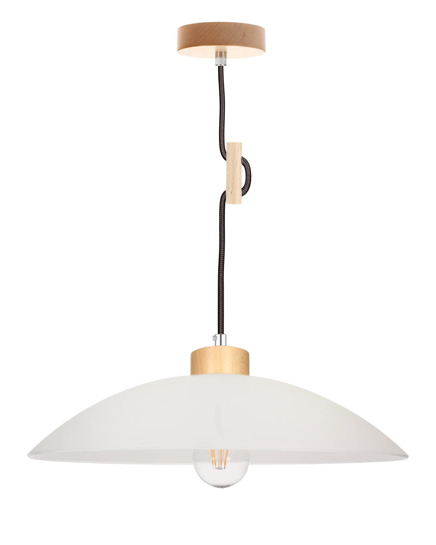 Hanging lamp Jona brzoza / anthracite E27 60W