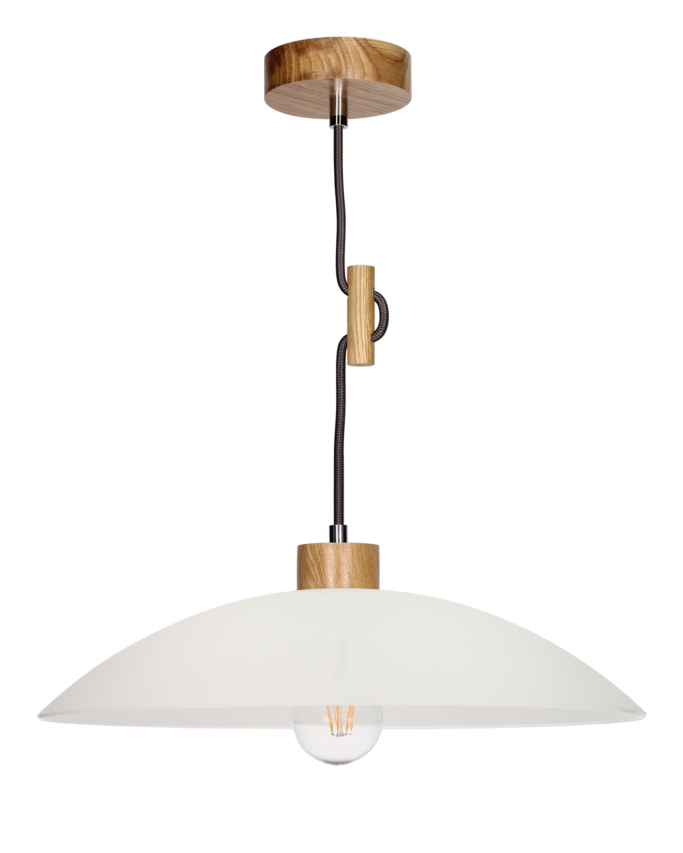 Hanging lamp Jona oak / anthracite E27 60W