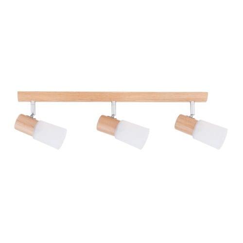 Triple Strip spot Kira Wood oak / chrome / white E14 40W
