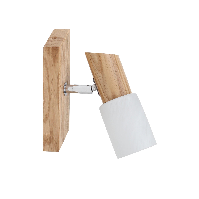 Modernist Rustic Wooden Wall Lamp BRIGIT