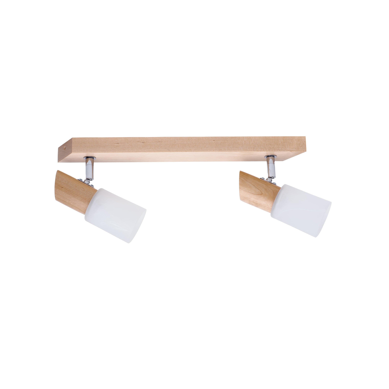 Double strip spot Birgit birch / chrome / white E14 40W