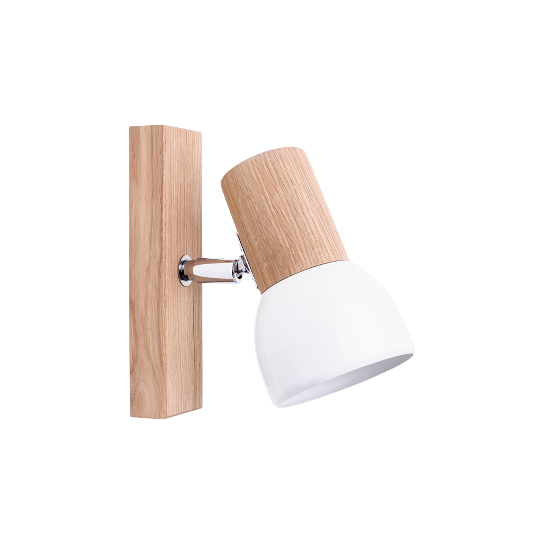 Wall lamp Svenda dąb olejowany / chrom / white E27 60W