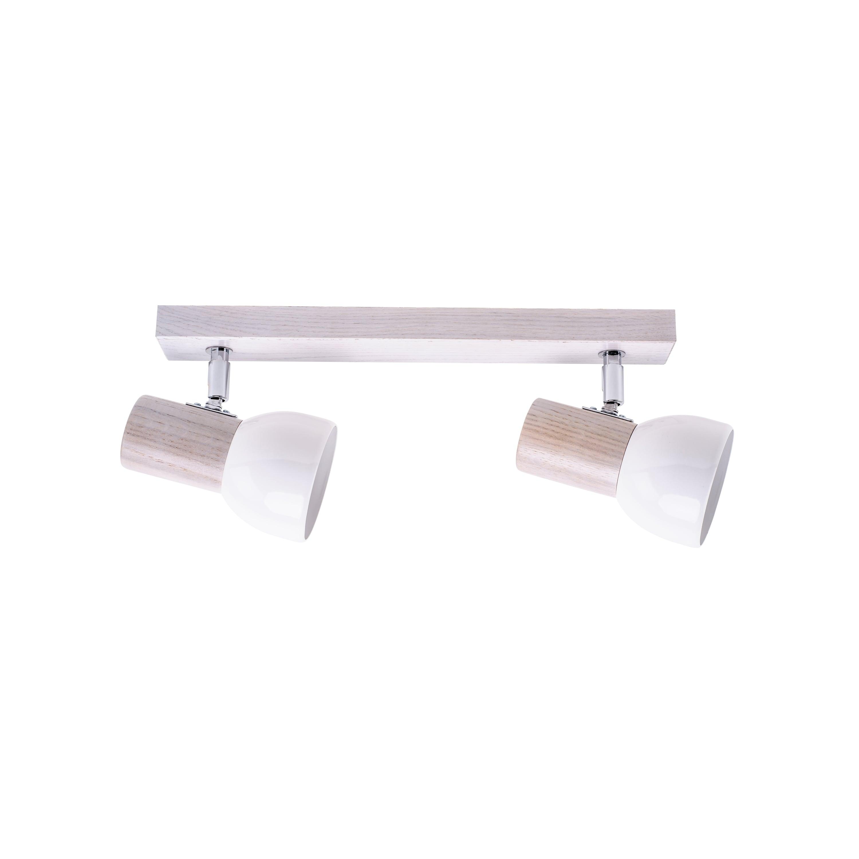Listwa spot Svenda biały dąb / chrom / white E27 60W