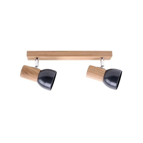 Double strip spot Svenda dąb olejowany / chrom / graphite E27 60W
