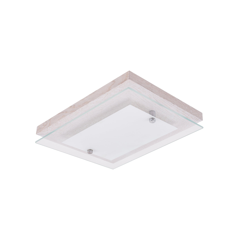 Ceiling Finn dąb bielony / chrom / white LED 10W
