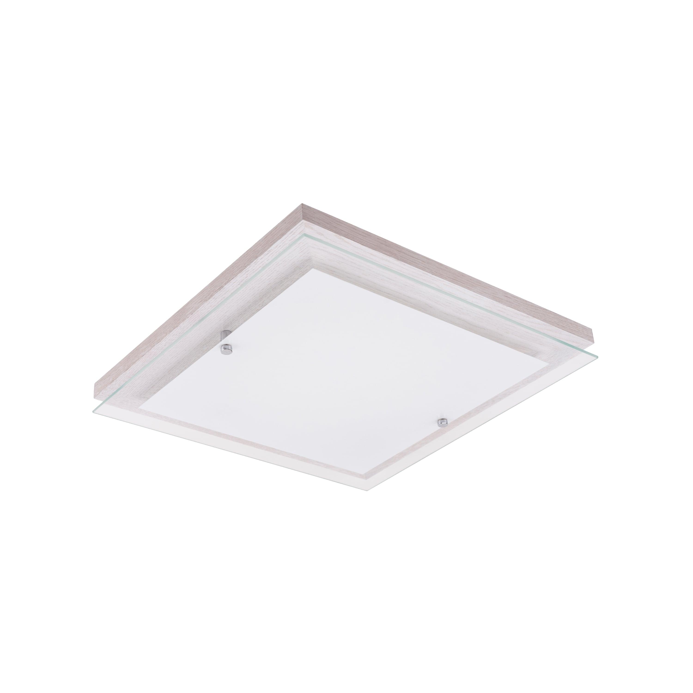 Ceiling Finn dąb bielony / chrom / white LED 14W