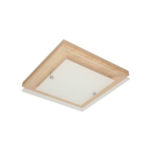 Plafon Finn brzoza/chrom/biały LED 14W