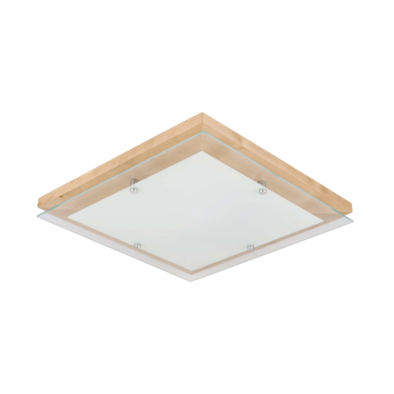 Plafon Finn brzoza / chrome / white LED 24W