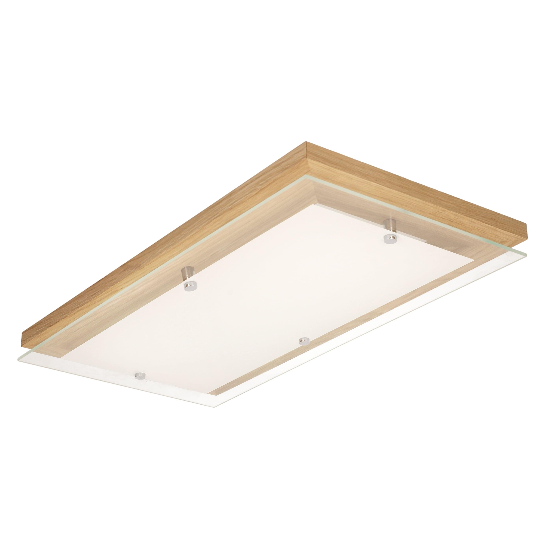 Ceiling Finn oak / chrome / white LED 24W