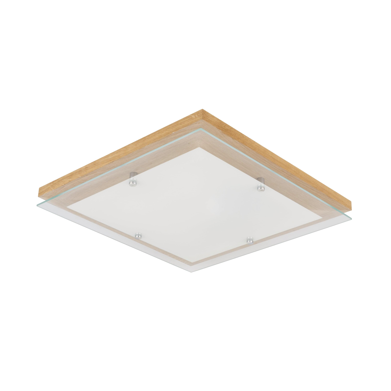 Ceiling Finn oak / chrome / white LED 2.7-24W