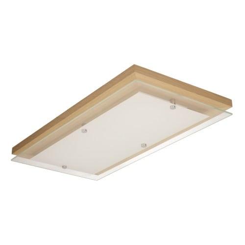 Plafon Finn dąb olejowany/chrom/biały LED 3,2-24W