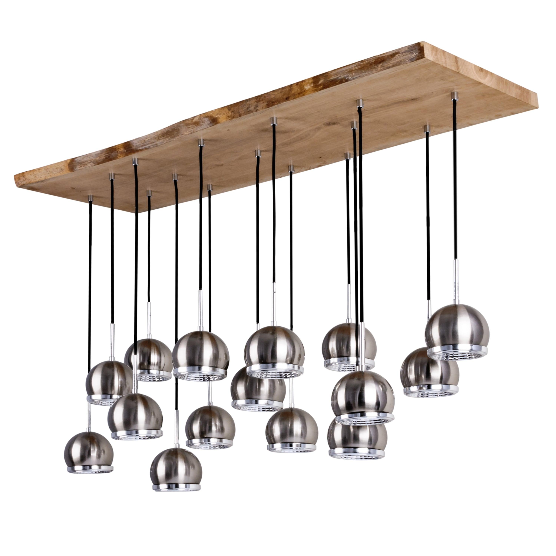 Plafon Ball Wood dąb olejowany / anthracite / satin GU10 5,5W