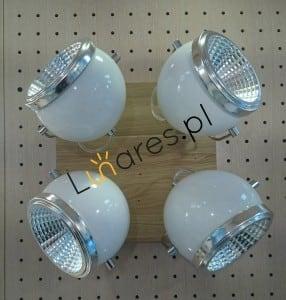 Plafon Ball Wood oak oiled / chrome / white LED GU10 5,5W small 1