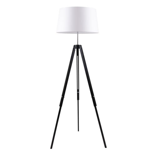 Floor Lamps Black Triodes Beige Lampshade