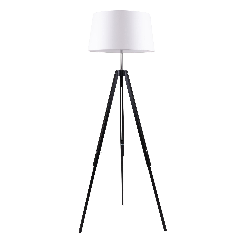 Floor Lamps Black Triodes Beige Lampshade