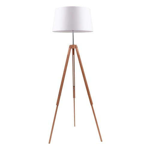 Wooden Floor Lamp Tripod
