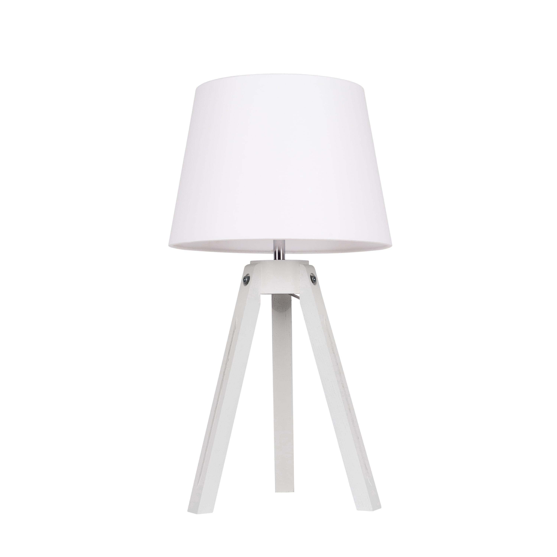 Table lamp Tripod white / chrome / white E27 60W