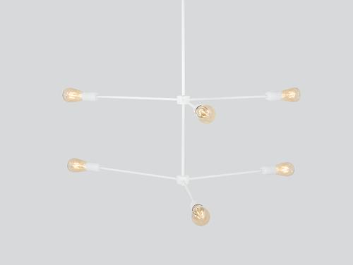 TRISO 6 hanging lamp - white
