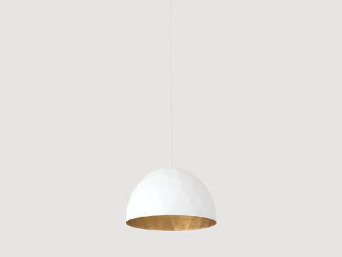 Hanging lamp LEONARD M - gold and white