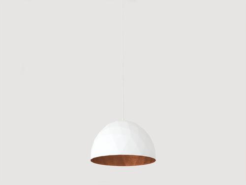 Hanging lamp LEONARD M - copper-white