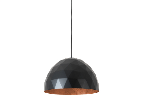 Hanging lamp LEONARD L - copper-black