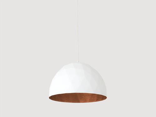Hanging lamp LEONARD L - copper-white