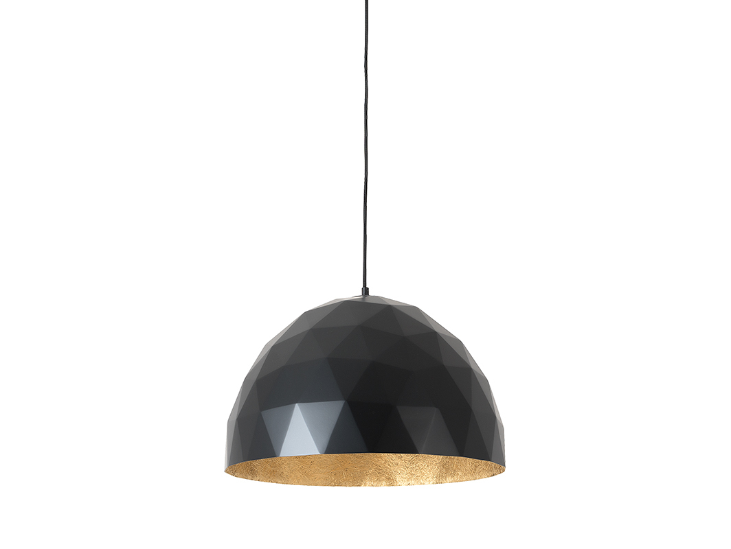 Hanging lamp LEONARD L - gold-black