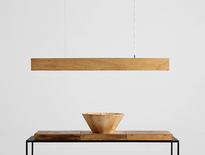 Hanging lamp LINE PLUS L WOOD - oak small 1