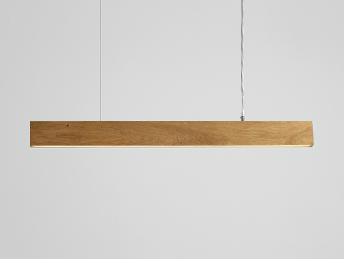 Hanging lamp LINE PLUS L WOOD - oak