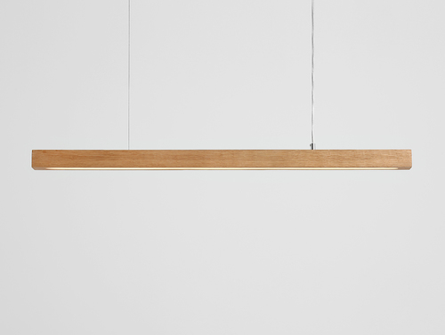 Hanging lamp LINE PLUS L WOOD LOW - oak