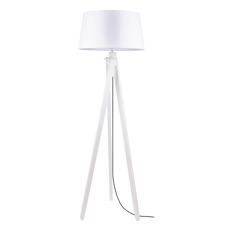 Floor lamp Rune dąb bielony / anthracite / white E27 60W