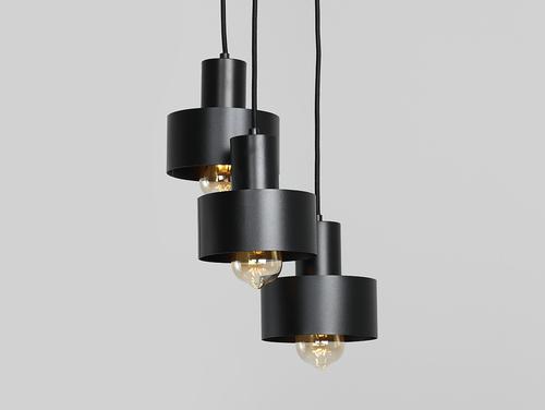Hanging lamp FAY 3 KOŁO - black