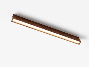 LINE PLUS M WOOD ceiling lamp - walnut small 3