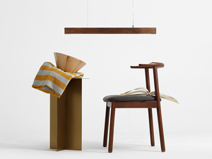 Hanging lamp LINE PLUS M WOOD LOW - walnut small 2