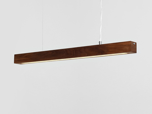 Hanging lamp LINE PLUS M WOOD LOW - walnut small 3