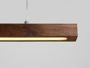 Hanging lamp LINE PLUS M WOOD LOW - walnut small 4