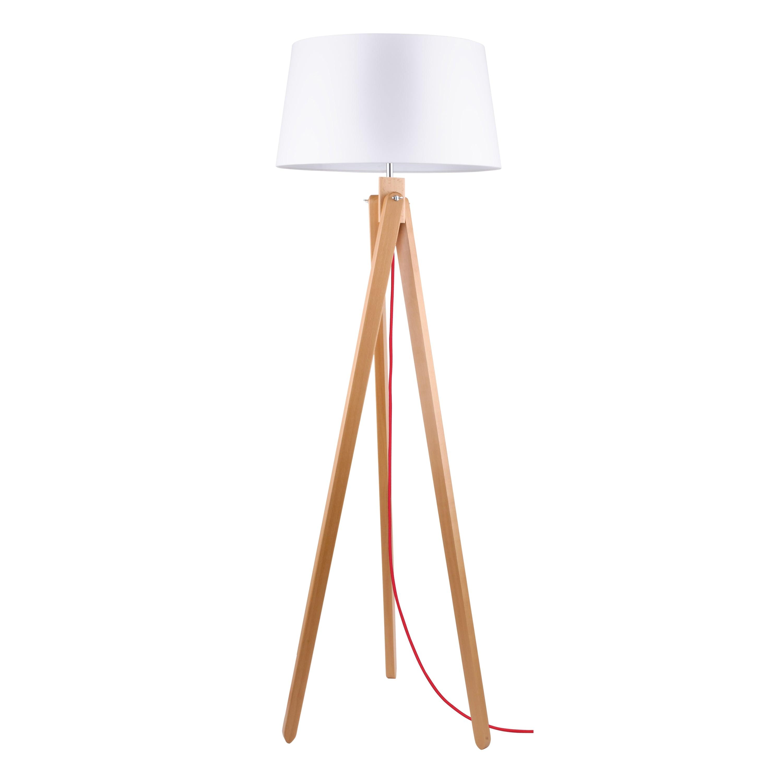 Floor lamp Rune buk / czerwony / white E27 60W