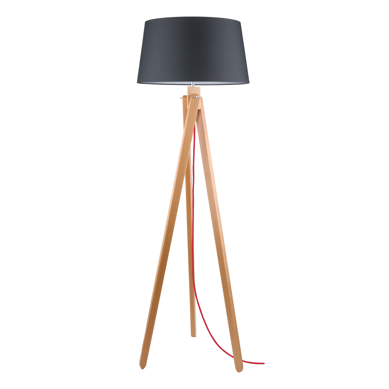 Floor lamp Rune buk / czerwony / anthracite E27 60W